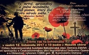 2017 - Pozvánka. Den válečných veteránů